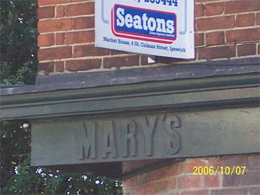 Mary's Woodbridge Road close-up