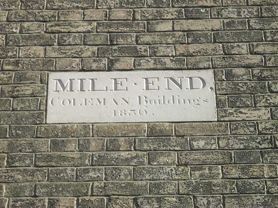 Ipswich Historic Lettering: Mile End 1