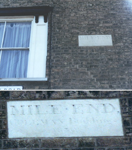 Ipswich Historic Lettering: Mile End