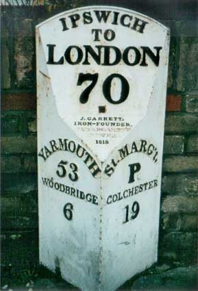Ipswich Historic Lettering: Milepost 2