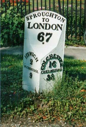 Ipswich Historic Lettering: Milepost 3