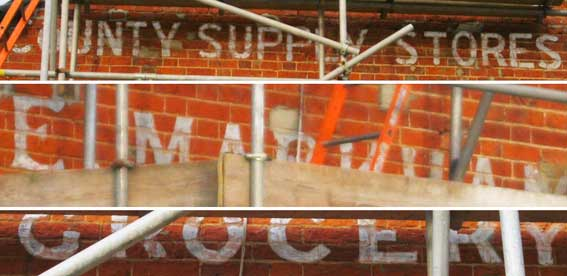 Ipswich Historic Lettering: County Supply Stores 6