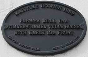 Ipswich Historic Lettering: Old Bull plaque