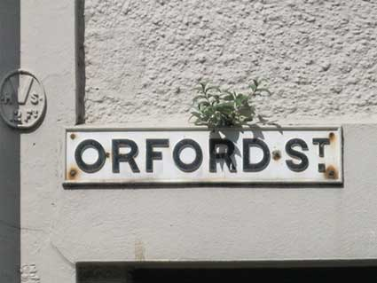 Ipswich Historic Lettering: Orford Street sign