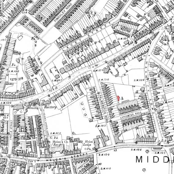 Ipswich Historic Lettering: Palmerston map