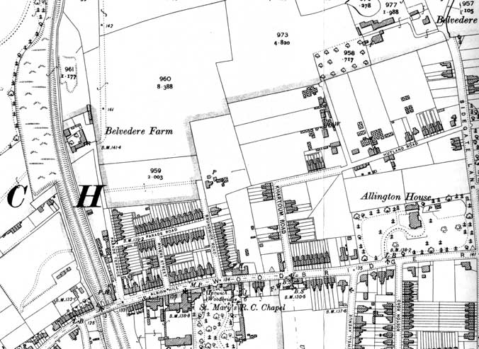 Ipswich Historic Lettering: Parade Rd Terrace map
