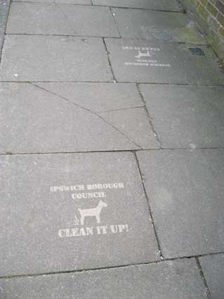 Ipswich Historic Lettering: Pavement clean up 1