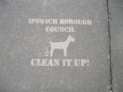Ipswich Historic Lettering: pavement clean up 2