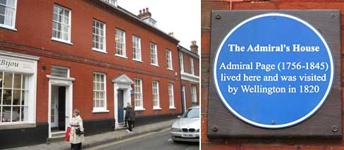 Ipswich Historic Lettering: Admiral's House plaque