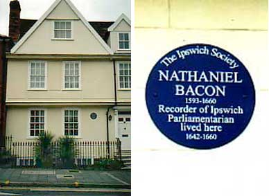 Ipswich Historic Lettering: Bacon plaque