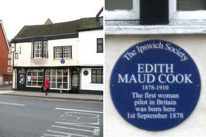 Ipswich Historic Lettering: Edith Maude Cook plaque