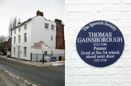 Ipswich Historic Lettering: Gainsborough plaque