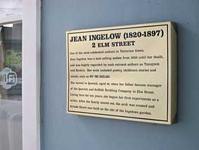 Ipswich Historic Lettering: Jean Ingelow plaque 1