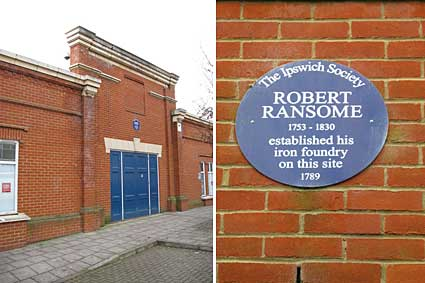 Ipswich Historic Lettering: Robert Ransome plaque