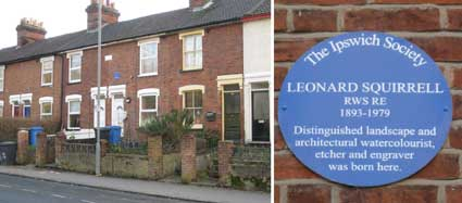 Ipswich Historic Lettering: Leonard Squirrel plaque