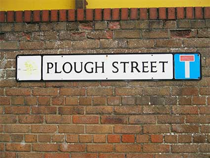 Ipswich Historic Lettering: Plough Street 2