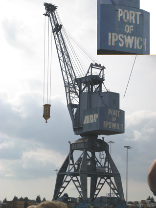 Ipswich Historic Lettering: Port of Ipswich crane