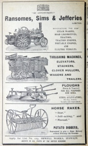 Ipswich Historic Lettering: Ransomes ad 1923