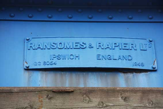 Ipswich Historic Lettering: Ransomes swing bridge