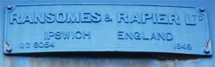 Ipswich Historic Lettering: Ransomes swingbridge small