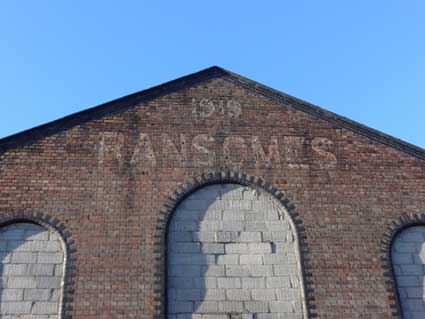 Ipswich Historic Lettering: Ransomes warehouse 1