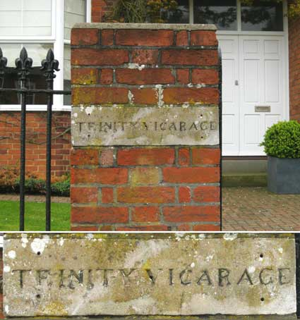 Ipswich Historic Lettering: Trinity Vicarage 2