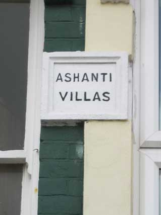 Ipswich Historic Lettering: Rosehill houses: Ashanti