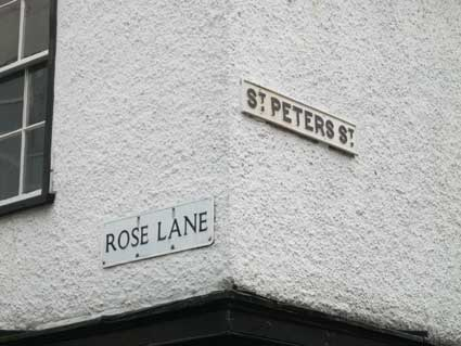 Ipswich Historic Lettering: Rose Lane sign
