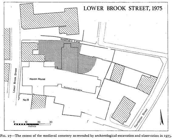 Ipswich Historic Lettering: Rosemary Lane map 1975