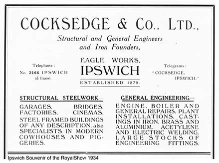 Ipswich Historic Lettering: Cocksedge advert