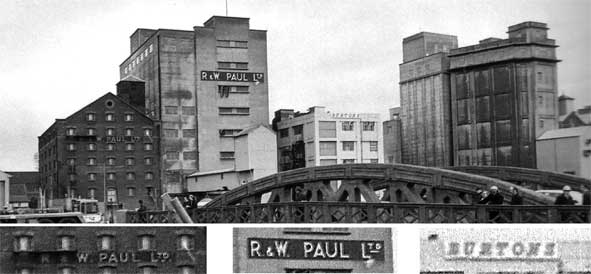 Ipswich Historic Lettering:  R&W Paul maltings 1982