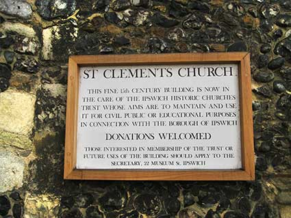 Ipswich Historic Letering: St Clement 9