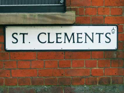 Ipswich Historic Lettering: St Clements nameplate 1