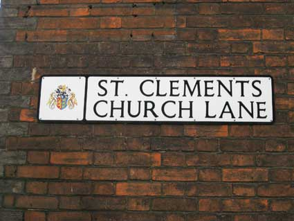 Ipswich Historic Lettering: St Clements nameplate 3
