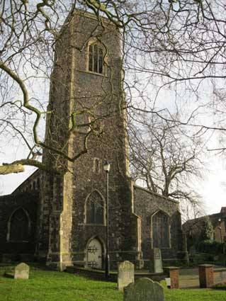 Ipswich Historic Letering: St Clements tower 1
