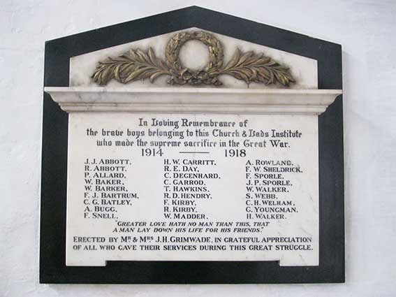 Ipswich Historic Lettering: St Clement war memorial 2