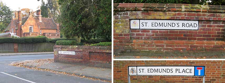Ipswich Historic Lettering: St Edmunds Rd sign
