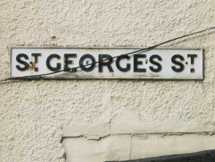 Ipswich Historic Lettering: St Georges St sign 2