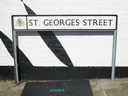 Ipswich Historic Lettering: St Georges St sign 3