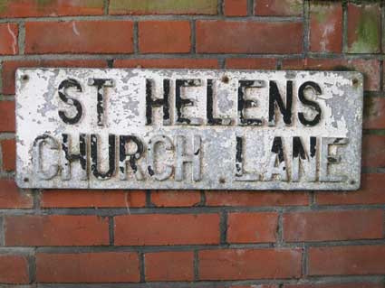Ipswich Historic lettering: St Helens Church Lane 2