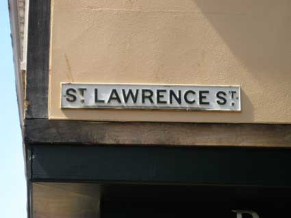 Ipswich Historic Lettering: St Lawrence St sign