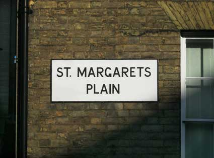 Ipswich Historic Lettering: St Margarets Plain sign