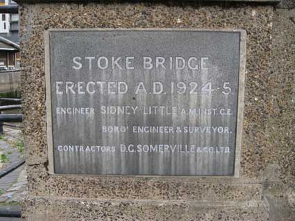Ipswich Historic Lettering: Stoke Bridge 1