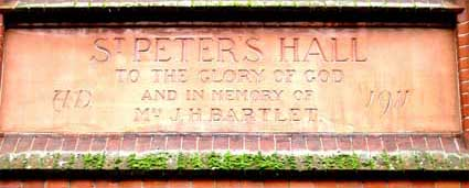 Ipswich Lettering: St Peters Hall 1a