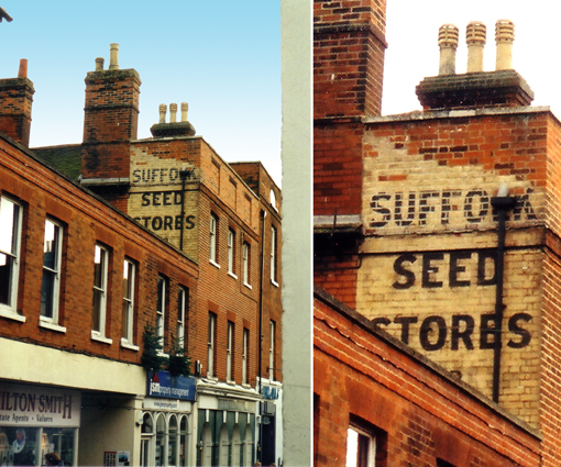 Ipswich Historic Lettering: Woodbridge Suffolk Seed Stores