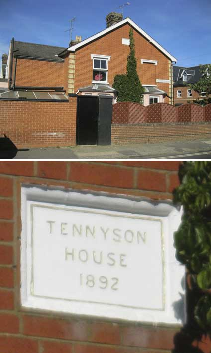 Ipswich Historic Lettering: Tennyson House