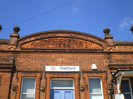 Ipswich Historic Lettering: Thetford Station