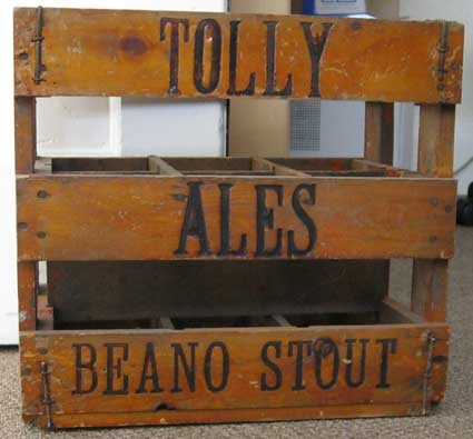 Ipswich Historic Lettering: Tolly Beano crate