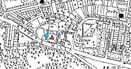 Ipswich Historic Lettering: Upland Gate map