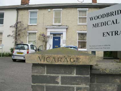 Ipswich Historic Lettering: Vicarage, Woodbridge Road